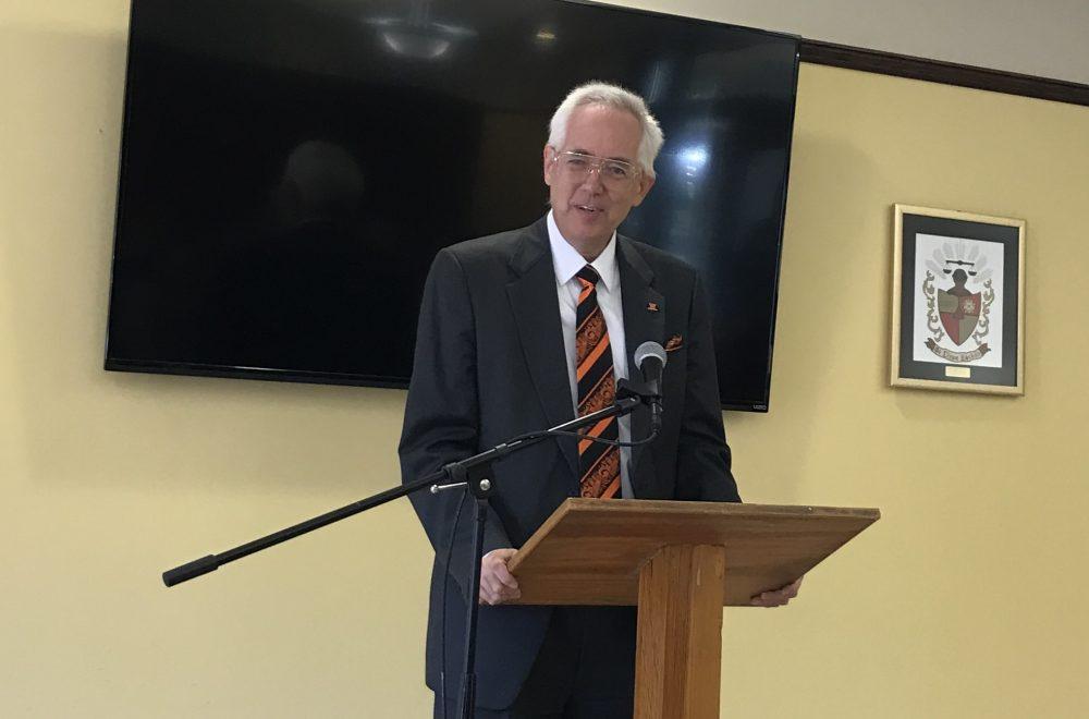College president Joel Theirstein