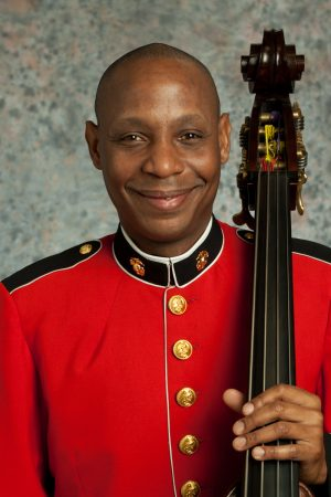 Master Gunnery Sgt. Aaron Clay, a 1990 graduate of West Virginia Wesleyan College, participated in former President George H. W. Bush's funeral service on December 5, at the Washington National Cathedral on double bass as a member of The President's Own United States Marine Chamber Orchestra.