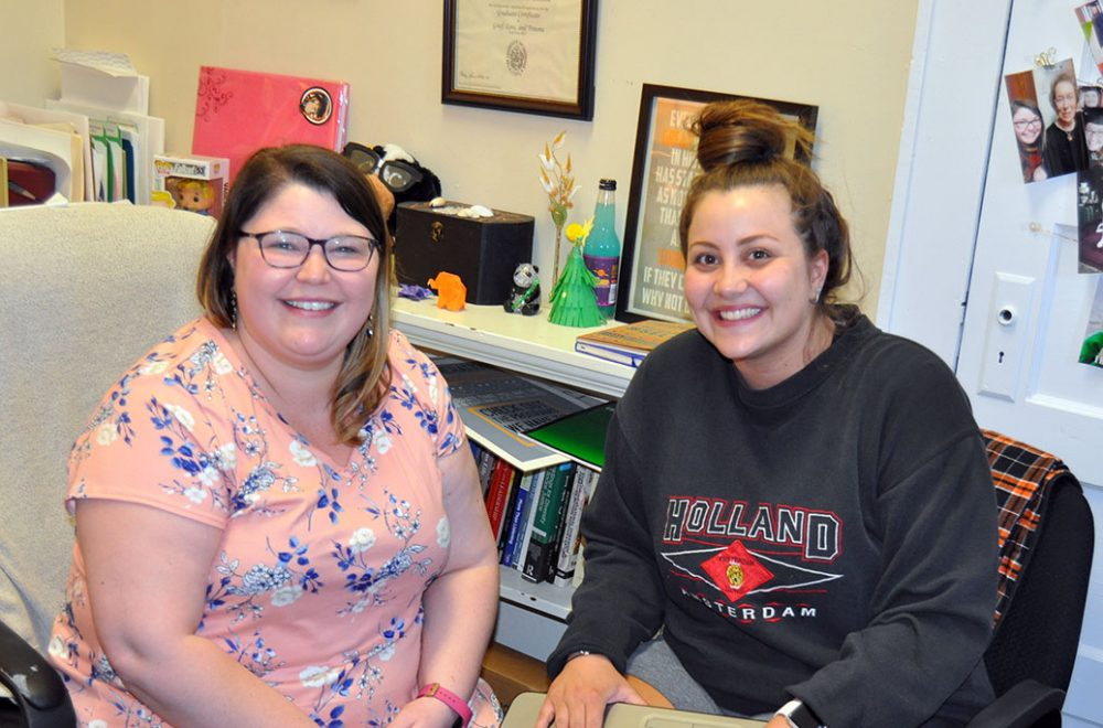 Student Success Center, Kristin Ring and Miranda Farmer