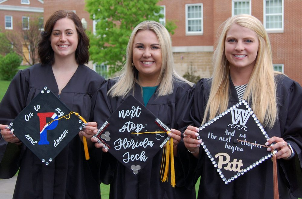 Commencement 2019 mortarboards, West Virginia Wesleyan recognized among nation's top colleges
