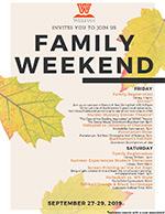 Family Weekend newsletter (PDF)