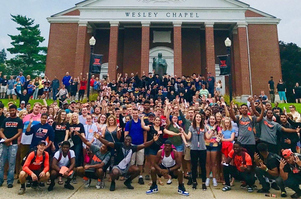 West Virginia Wesleyan College welcomes over 350 new undergraduates and their families at student orientation