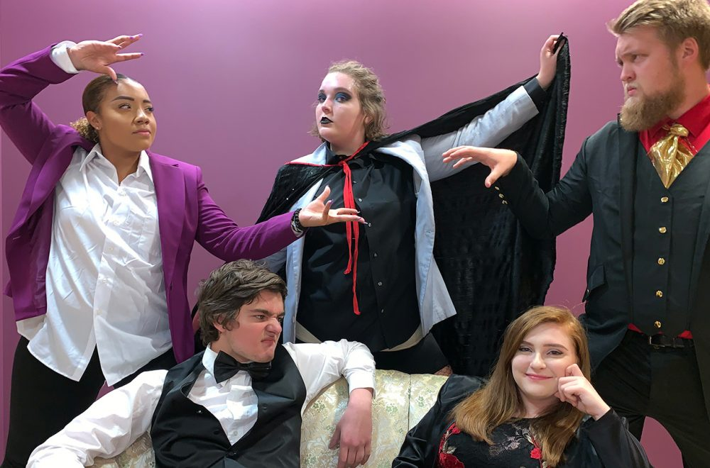 The Wesleyan Department of Theatre and Dance will perform a murder mystery dinner theatre at the Buckhannon Opera House, The Case of the Dueling Hypnotists