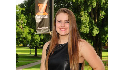 Hannah Jones, a senior business and international studies major at West Virginia Wesleyan College